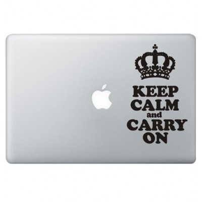 Keep Calm Macbook Sticker