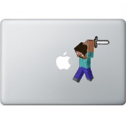 Minecraft Man Macbook Sticker