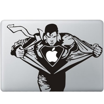 Superman MacBook Sticker Zwarte Stickers