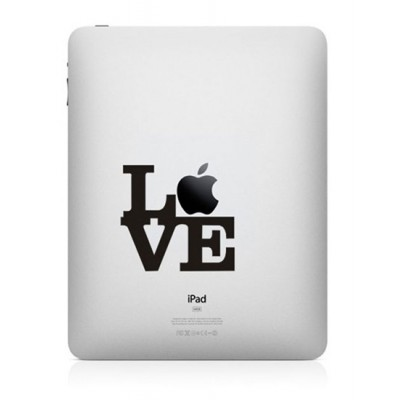 Love Apple iPad Sticker