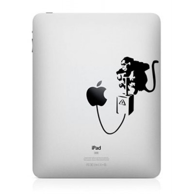 Banksy Aap iPad Sticker