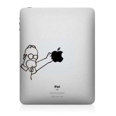 Homer Simpson iPad Sticker