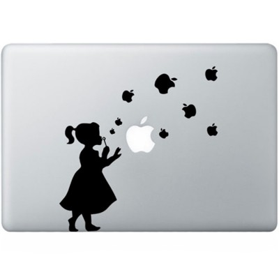 Bellenblaas MacBook Sticker Zwarte Stickers