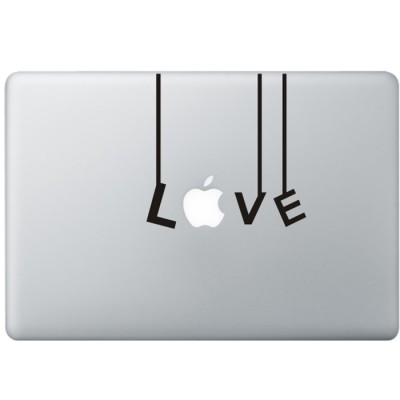 Love (2) MacBook Sticker Zwarte Stickers