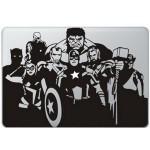 The Avengers (2) MacBook Sticker Zwarte Stickers