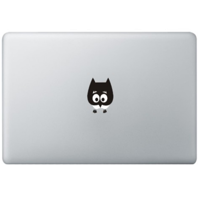 Baby Uil MacBook Sticker Zwarte Stickers