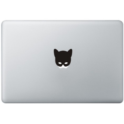 Catwoman Mask MacBook Sticker Zwarte Stickers