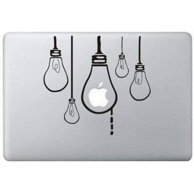Hangende Lampen MacBook Sticker Zwarte Stickers