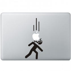 Vallende Appels MacBook Sticker