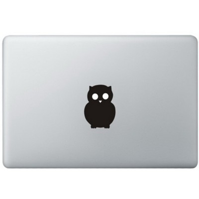 Uil Logo MacBook Sticker Zwarte Stickers