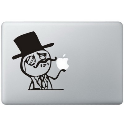 Like A Sir Meme MacBook Sticker Zwarte Stickers