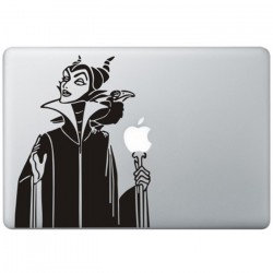 Sleeping Beauty's Maleficent MacBook Sticker