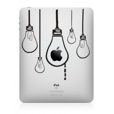Hangende Lampen iPad Sticker