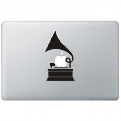 Grammofoon MacBook Sticker
