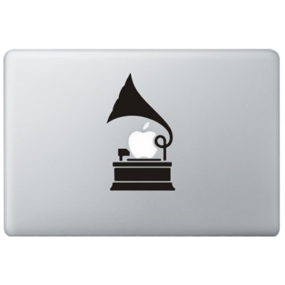 Grammofoon MacBook Sticker