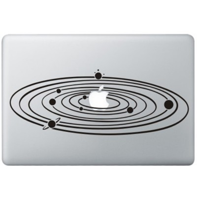Milky Way MacBook Sticker Zwarte Stickers