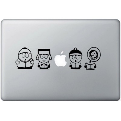 South Park MacBook Sticker Zwarte Stickers