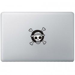 One Piece Monkey Logo MacBook Sticker