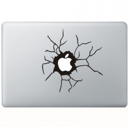 Cracked Apple MacBook Sticker