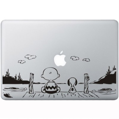 Snoopy en Charlie Brown MacBook Sticker