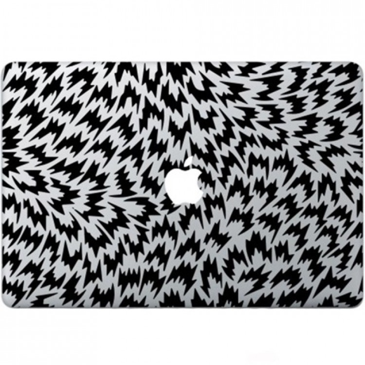 Optische Illusie Macbook Sticker Zwarte Stickers