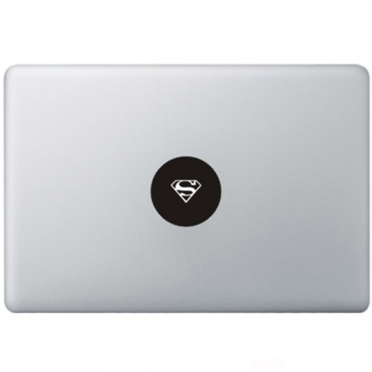 Superman Logo Macbook Sticker Zwarte Stickers