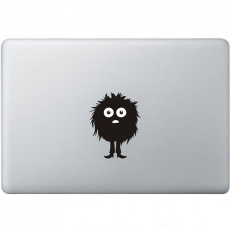 Fuzzy Guy Macbook Sticker Zwarte Stickers