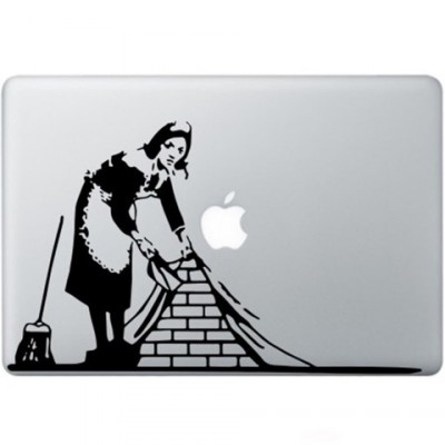 Banksy Maid In London Macbook Sticker