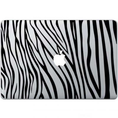 Zebra Print Macbook Sticker