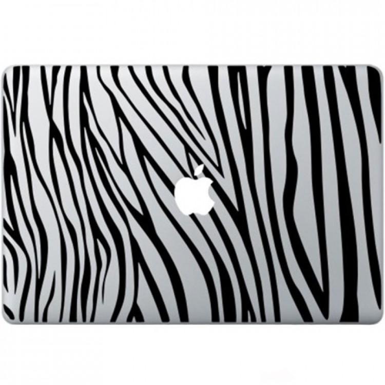 Zebra Print Macbook Sticker Zwarte Stickers