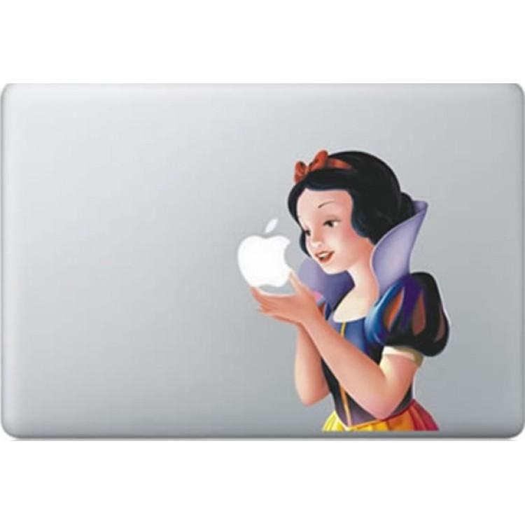 Sneeuwwitje Kleur MacBook Sticker Gekleurde Stickers