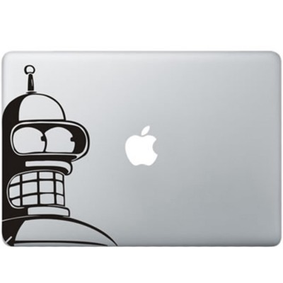 Futurama Bender MacBook Sticker Zwarte Stickers